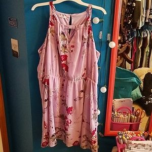 Maurices plus size 1 lavender floral dress